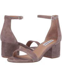 ae8ac41590dd Steve Madden - Irenee Sandal (black Suede) Women s 1-2 Inch Heel Shoes