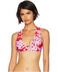 Trina Turk - Bali Blossoms Halter Top (midnight) Women's Swimwear - Lyst