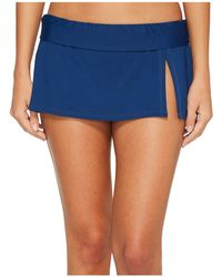 Bleu Rod Beattie - Kore Skirted Hipster Bikini Bottom (navy) Women's Swimwear - Lyst