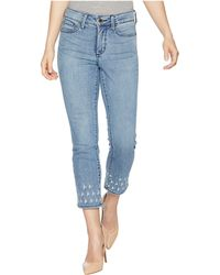 NYDJ - Petite Sheri Slim Ankle Palm Dot Embroidery In Point Dume - Lyst