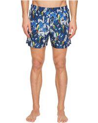 Z Zegna - Parrot Swim Trunks (multi) Men's Swimwear - Lyst