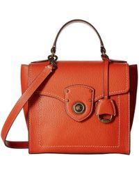 Lauren by Ralph Lauren - Millbrook Top Handle Crossbody Satchel (lauren Tan) Handbags - Lyst