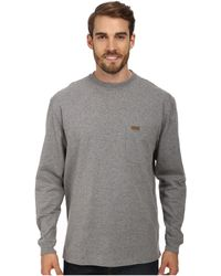 Pendleton - L/s Deschutes Tee (grey Heather) Men's Long Sleeve Pullover - Lyst