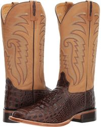 Old West Boots - Doc Square Toe (chocolate) Cowboy Boots - Lyst