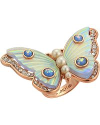 Betsey Johnson - Butterfly Statement Ring (white) Ring - Lyst