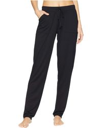 N By Natori - Nvious Pants Baby French Terry (black) Women's Pajama - Lyst