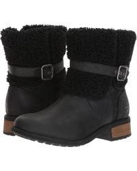 UGG - Blayre Ii (black Leather) Women's Boots - Lyst