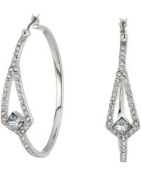 Vince Camuto - Crystal Pave Hoop Earrings (silver) Earring - Lyst