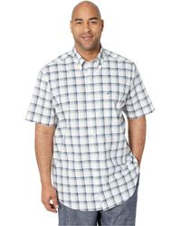 7ca99066b4dc86 Nautica Big Tall Casual Plaid Woven (pink Lady) Men's Clothing in Blue for  Men - Lyst