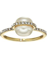 Vince Camuto - Pearl Trapped Ring (gold/crystal/ivory Pearl) Ring - Lyst