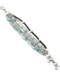 Lucky Brand - Mini Lucky Layer Turquoise Bracelet - Lyst