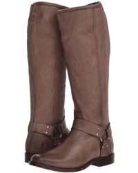 0bffb2c6fcd Frye - Phillip Harness Tall (dark Brown Extended Brush-off) Women s First  Walker