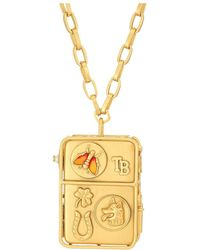 Tory Burch - Icon Pendant Necklace - Lyst
