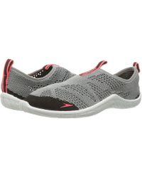 Speedo - Surf Knit (frost Grey/flame) Women's Slip On Shoes - Lyst