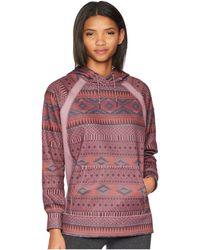 Burton - Women's Crown Bonded Pullover (canvas Bogolanfini/true Black Heather) Women's Sweatshirt - Lyst