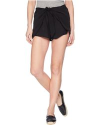 Jack BB Dakota - Quinn Tie Front Shorts (black) Women's Shorts - Lyst