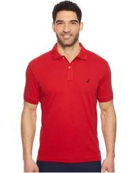 Nautica - Short Sleeve Solid Interlock Polo (true Black) Men's Short Sleeve Pullover - Lyst