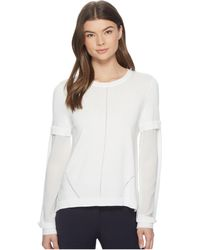 Nicole Miller - High-low Puff Sleeve Top - Lyst