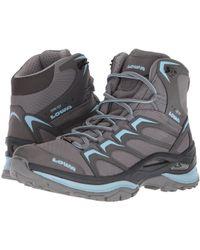 Lowa - Innox Gtx(r) Mid (grey/light Blue) Women's Shoes - Lyst