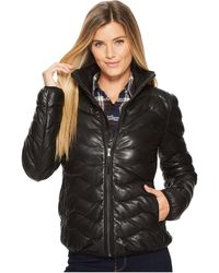 Scully - Sydney Touch Of Class Ladies Leather Ribbed Jacket (black) Women's Coat - Lyst