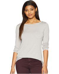 Prana - Foundation Long Sleeve Tunic (charcoal Heather Stripe) Women's Long Sleeve Pullover - Lyst