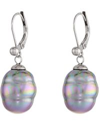 Majorica - 12mm Baroque Pearl Drop Earrings (gray) Earring - Lyst