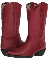 Durango - Western 11 Narrow Square Toe (scarlet Red) Cowboy Boots - Lyst
