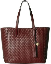 Cole Haan - Woven Leather Payson Tote (fired Brick) Tote Handbags - Lyst