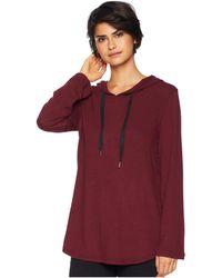 BB Dakota - Join The Circle Hacci Bell Sleeve Tunic Hoodie (bordeaux) Women's Sweatshirt - Lyst