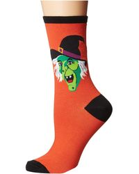 Socksmith - Cackling Witch (purple) Women's Crew Cut Socks Shoes - Lyst