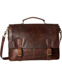 Frye - Logan Top Handle (slate Antique Pull Up) Handbags - Lyst