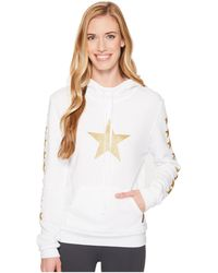 Hard Tail - Funnel Hoodie (stars/white/gold) Women's Sweatshirt - Lyst