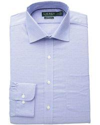 Lauren by Ralph Lauren - Classic Fit No-iron Glen Plaid Warren Dress Shirt (capri/white) Men's Long Sleeve Button Up - Lyst