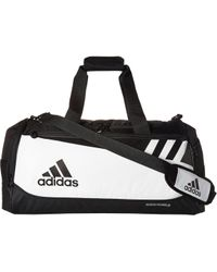 adidas - Team Issue Medium Duffel (white/black) Duffel Bags - Lyst