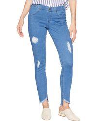 Hue - Angled Hem Denim Skimmer Leggings (stonewash/solid) Women's Jeans - Lyst