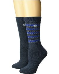Columbia - Texture Wool Crew 2-pack (navy) Women's Crew Cut Socks Shoes - Lyst