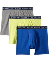 Kenneth Cole Reaction - 3-pack Basic Boxer Brief (cobalt/light Grey/sulphar) Men's Underwear - Lyst