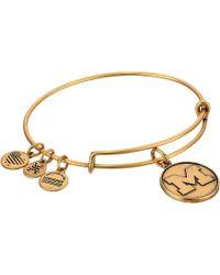 ALEX AND ANI - University Of Michigan (rafaelian Silver) Bracelet - Lyst