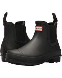 HUNTER - Original Chelsea (navy) Women's Rain Boots - Lyst
