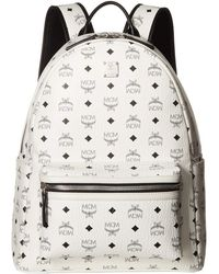 MCM - Stark No Stud Medium Backpack (white) Backpack Bags - Lyst
