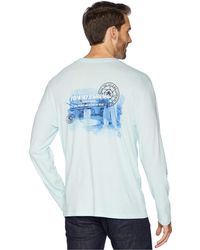 Tommy Bahama - Big Waves Long Sleeve Tee (whisper) Men's T Shirt - Lyst