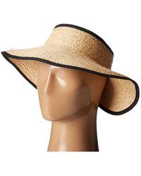 San Diego Hat Company - Rhv1505 Raffia Roll Up Visor With Velcro Closure - Lyst