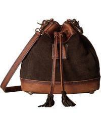 STS Ranchwear - Heritage Bucket Bag (chocolate Suede/tornado Brown) Bags - Lyst