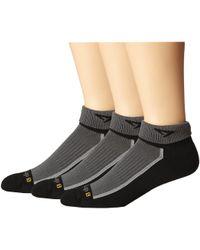 Drymax Sport - Trail Running 1/4 Crew Turn Down 3-pair Pack (gray) Crew Cut Socks Shoes - Lyst
