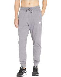 Nike - Nsw Av15 Knit Jogger (gunsmoke heather white) Men s Casual Pants d0ee4f778