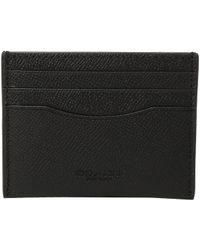 37dd4dee1674 Lyst - COACH Double Billfold Wallet In Signature Crossgrain Leather ...