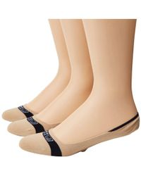 Sperry Top-Sider - Signature Solid 3 Pack (salmon Assorted) Women's No Show Socks Shoes - Lyst