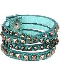 Leatherock - B340-f185 (jade) Bracelet - Lyst