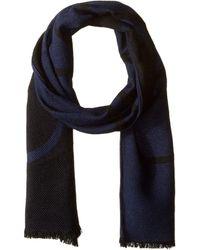 Calvin Klein - Woven Twill Logo Scarf (navy) Scarves - Lyst