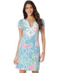 284abdfd8121c2 Lilly Pulitzer 'brewster' Contrast Trim Print T-shirt Dress - Lyst
